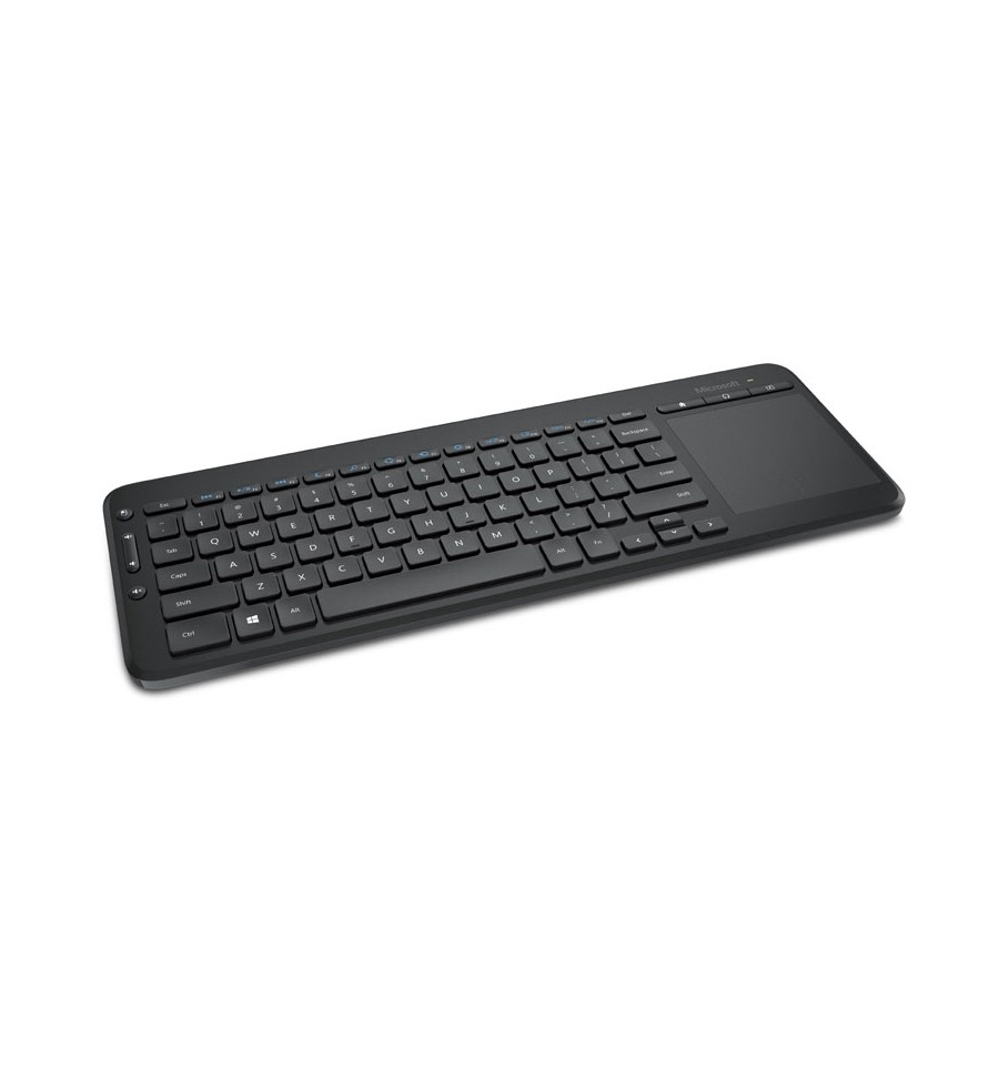 clavier sans fil microsoft all in one media keyboard noir avec touchpad. Black Bedroom Furniture Sets. Home Design Ideas
