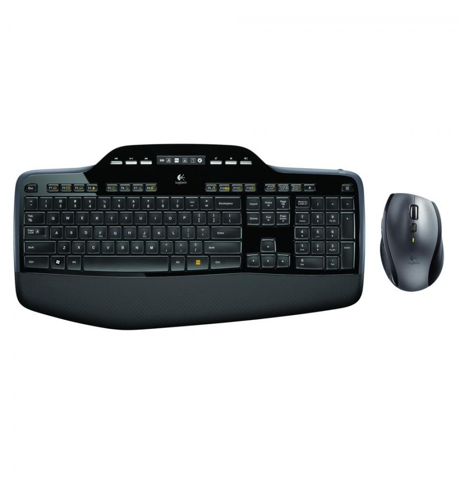 clavier souris sans fil logitech wireless desktop mk710 noir. Black Bedroom Furniture Sets. Home Design Ideas