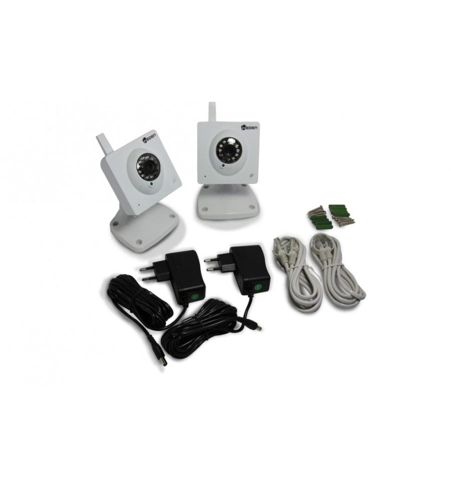 cam ra ip sans fil heden visioncam cloud v1 7 int rieure fixe blanche pack de 2. Black Bedroom Furniture Sets. Home Design Ideas