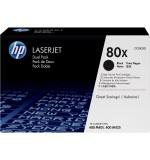 Toner HP 80X Noir Pack de 2 CF280XD (2x6900 pages)