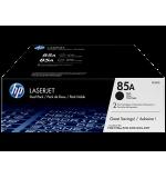 Toner HP 85A Noir Pack de 2 CE285AD (2x1600 pages)