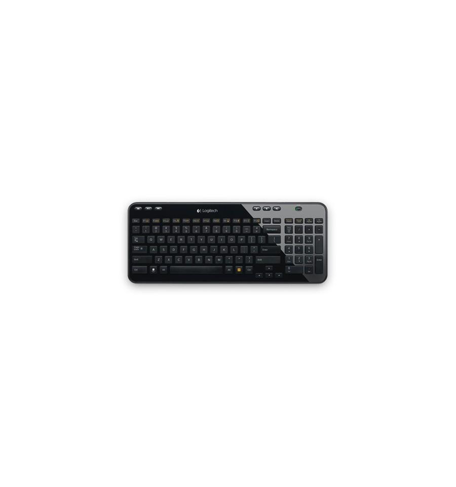 clavier sans fil logitech wireless keyboard k360 noir. Black Bedroom Furniture Sets. Home Design Ideas