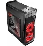 Boitier ATX RebornLeague Gank II Noir Fenêtre 2*USB3+2*USB2+Son+SD+Micro SD