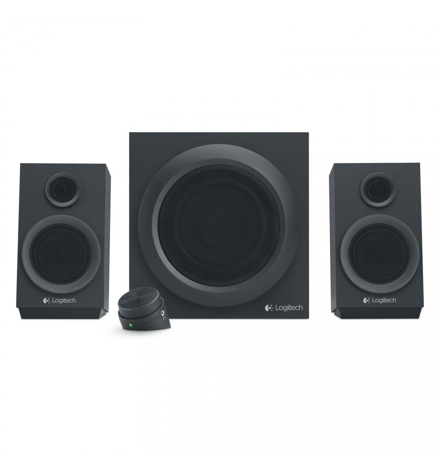 enceintes logitech 2 1 z333 noir 30 watts rms. Black Bedroom Furniture Sets. Home Design Ideas